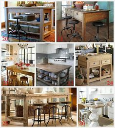Kitchen Island Ideas for decorating and DIY projects. 4 #kitchen #decor #diy