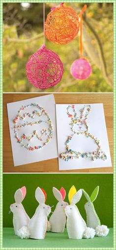 Have the kids help make the string eggs and then use as decoration.