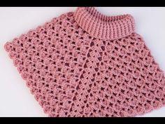 Crochet Jumper Pattern, Crochet Poncho, Baby Knitting Patterns, Filet Crochet, Crochet Stitches, Crochet Woman, Baby Girl Crochet, Crochet Baby Clothes, Unique Crochet