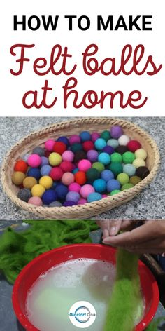 How to make felt balls at home. It is an easy process and not very expensive. You can make your own felt balls at home as per your own color choice. #feltballs #handmadefeltballs #felttutorial
