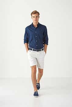 THE BLUES: Blue on blue is summer's smartest colour trend. Country Road MAN Summer 2012