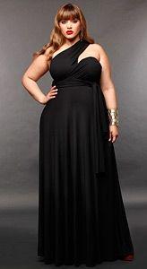 """""""Marilyn"""" Long Convertible Dress 20 - Black"""