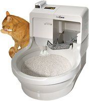 CatGenie automatically scoops, liquefies, and flushes cat waste out of home. Uses water and SaniSolution to wash and sanitize Cat Bowl and Washable Granules. CatGenie dries interior and Granules for your cat's comfort. Only CatGenie 120 SaniSolution Cartridges will work with the CatGenie 120. These are in clear plastic. All green colored cartridges will not work in this unit.