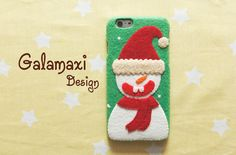 Handmade Snowman Phone Case Christmas Snowman iPhone 6 от Galamaxi