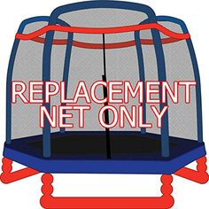 7ft Replacement Trampoline Safety Net for 3 Arch Enclosures (Fits Little Tikes, SkyBound)