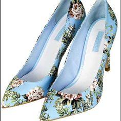 Topshop Floral Heels