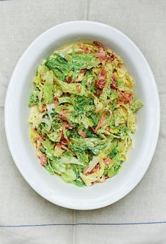 Savoy Cabbage and Bacon Gratin - The Happy Foodie