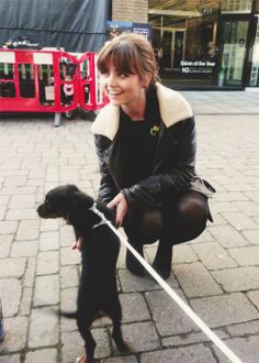 Jenna Coleman and a puppy! <3 Once again, most likely the cutest thing ever... And a puppy!