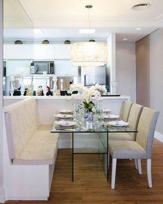 Saubere Küche: 60 erstaunliche Designs und Designs - Elena Mir - Welcome to the World of Decor! Decor, Dining Nook, Home, Dining Room Design, Dinner Room, Kitchen Furniture Design, Dining Room Decor, Condo Kitchen, Living Decor