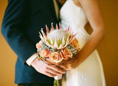 Protea Bouquet Protea Bouquet, Sugar Flowers, Bridal Flowers, Buttonholes, Color Mixing, Wedding Colors, Floral Arrangements, Wedding Bouquets, Dream Wedding