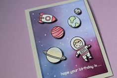 Lawn fawn out of this world card