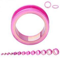 Ear Gauges, Plugs, Ear Tunnels, Pink Acrylics, Metallic Pink, Body Piercing, Body Jewelry, Clear Acrylic, Helpful Hints