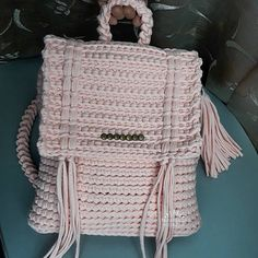 Crochet rugsag