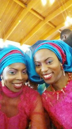My sister and I- makeup and gele by Faauzy