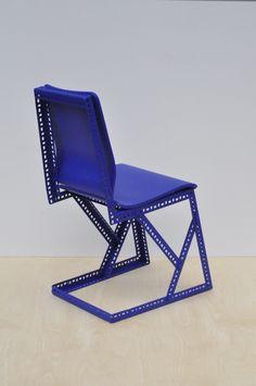 Sébastien Laurent Renard / Studio KWA  Steel Plywood Rubber  h 890 x l 410 x p…