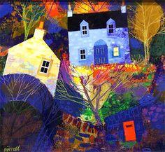 George Birrell - Fifie, Setting Off Illustrations, Illustration Art, Pop Art Images, Seascape Art, Cool Artwork, Amazing Artwork, Naive Art, Whimsical Art, Landscape Art