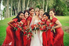#redbridesmaids #sequinbridesmaids #bridesmaids #sequindresses Arina B Photography