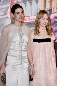 theirroyalhighnessespost:  Bal De La Rose for the Princess Grace Foundation in Monaco, March 19, 2016-Charlotte Casiraghi and her sister Princess Alexandra