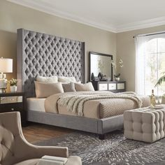 New Article Reveals The Low Down On Restoration Hardware Style Bed 23 - decoruntold Bedroom Bed Design, Bedroom Decor, Bedroom Ideas, Master Bedroom, Bedroom Shelves, Glam Bedroom, Upstairs Bedroom, Bedroom Signs, Bedroom Furniture