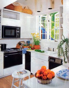 """This kitchen was part of the House Beautiful Best Small House in 1984. """"The room is crisply contemporary,"""" summed up the magazine.   - HouseBeautiful.com"""