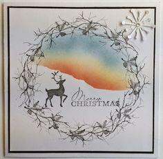 Running with Scissors: Cardio christmas Christmas Cards 2018, Stamped Christmas Cards, Christmas Card Crafts, Xmas Cards, Holiday Cards, Christmas Christmas, Greeting Cards, Cardio Cards, Xmas Wreaths