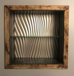 A custom wavy wall panel is set into the shadow boxes in our conference room 3d Wall Panels, Gallery, House Design, Blinds, Shadow Boxes, Interior Design, Home Decor, Settings, Wall Paneling