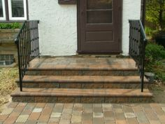 We Show The Way We Construct Steps Using Wall Stones With Photos & Descriptions - Newtown Square PA from Robert J. Brick Steps, Concrete Steps, Patio Stairs, Backyard Patio, Steps Design, Design Ideas, Patio Installation, Shade Landscaping, Landscaping Ideas