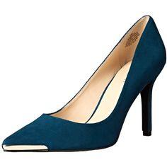Nine West Women's Mastic Suede Dress Pump (110 CAD) ❤ liked on Polyvore featuring shoes, pumps, dress pumps, suede pumps, suede leather shoes, suede shoes and nine west pumps