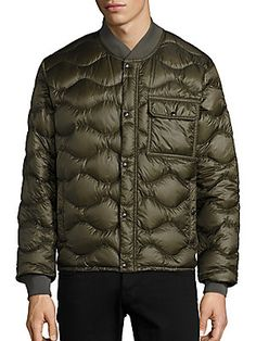 Moncler Frank Giubotto Wave Quilted Jacket