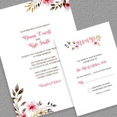 diy free pdf printable wedding invitation and rsvp wedding