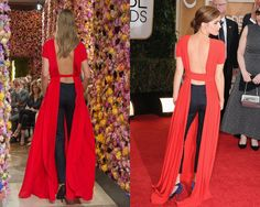 Look de Dior Haute Couture Fall 2013 / Emma Watson en la red carpet de los Golden Globes