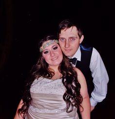 Beautiful married couple! #nightwedding #bridalmakeup #weddingphotography #bridalhair #bohemian #pinkpewter #headband #handsomegroom #weddinghair #weddingmakeup #brideandgroom #beautifulbride #longhair #bridalphotography