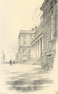 Fine Original 1922 Print of City Hall In New York City by O.R. Eggers