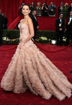 Penelope Cruz agli Oscar 2007 in Atelier Versace
