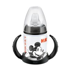 NUK Disney First Choice Plus 150ml Learner Bottle Black. Making the transition from bottle feeding to drinking from a cup can be a big step but help is at hand with the Disney by NUK First Choice 150ml Learner Bottle which features a classic Disney design to keep your child entertained whilst drinking.