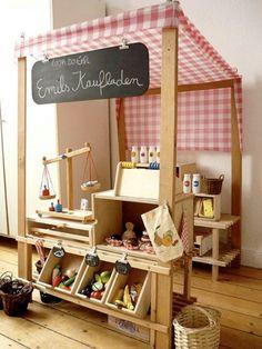 Great idea for childrens farmers market setup...love it!