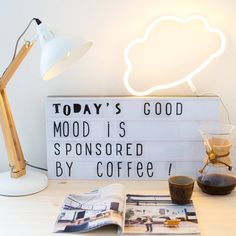 """599 Likes, 8 Comments - A Little Lovely Company (@alittlelovelycompany) on Instagram: """"Totaly...☕ ☕ ☕ #xllightbox #neonlight #alittlelovelycompany #homesweethome #homelightning…"""""""