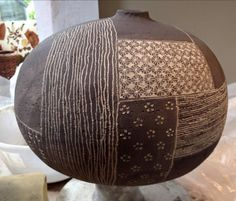 Gorgeous pot and mark making by Yo Thom