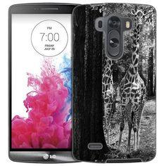 LG G3 Black and White Forest Giraffe Slim Case