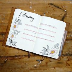 My second monthly log for February. Simple and clean with some flowers #bulletjournal #bujo #bulletjournaling #leuchtturm1917 #bulletjournaljunkies #bujobeauty #minimalistbujo #minimalistbulletjournal #planner #lifebyw #travelersnotebook #travelersjournal #showmeyourplanner #travelersnote #journal #journaling #stationery #tombow #monthlyspread #monthlylayout #bulletjournalss