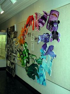 Larger than Life color wheel: group project.- Could easily made adaptable for Middle School-- Like 8th grade