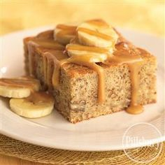 (Sugar Free) Banana Caramel Cake from Pillsbury® Baking.  We made this the other day. So good.