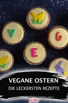 Mit diesen tollen veganen Rezepten glückt euch ein Osterfest auch ohne tierische Produkte. Desserts, Food, Easter Bunny, Easter Activities, Products, Tailgate Desserts, Deserts, Essen, Postres
