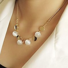 USD $ 2.99 - Bohemian fashion opal necklace N459, Free Shipping On All Gadgets!