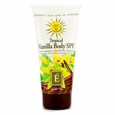 Eminence Organic Skincare Body Sunscreen SPF Tropical Vanilla, 5 Fluid Ounce by Eminence Organic Skin Care Natural Hair Mask, Natural Hair Styles, Natural Sunscreen, Sunscreen Spf, Eminence Organics, How To Grow Eyebrows, Healthy Oils, Younger Looking Skin, Clean Face