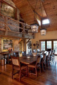 NJ Country Estate - farmhouse - Dining Room - Philadelphia - Wolstenholme Associates, LLC