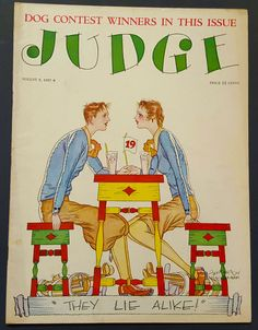 JUDGE Magazine August 6, 1927 Jefferson Machamer 19th Hole Golf Cover Cartoons