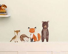 Woodland Kindergarten KunstwildeWald Wandkunst von trafalgarssquare