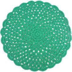 Sousplat de Crochê Barbante Verde Número 4