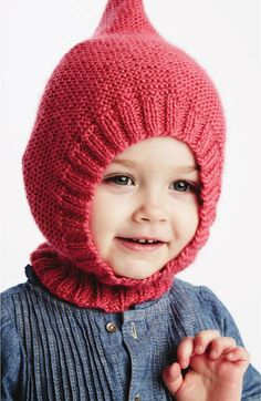 Little Gnome Hat in Bernat Softee Baby - free knitting pattern - Yarnspirations 2015 Baby Lookbook
